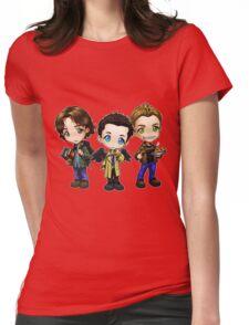 Supernatural cartoon trio Womens Fitted T-Shirt