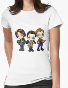 Supernatural cartoon trio Womens Fitted T-Shirt