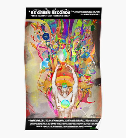 """BGRN-003 Benefit Poster with Archan Nair - """"Hydrascensionism"""" Poster"""
