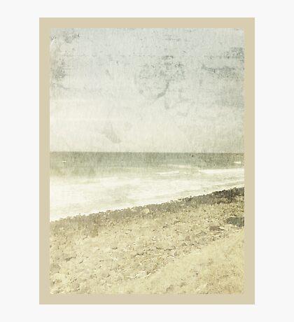 whitewashed beach Photographic Print