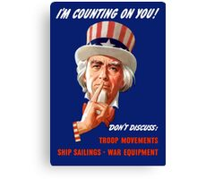 Uncle Sam I'm Counting on You Canvas Print