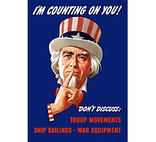 Uncle Sam I'm Counting on You Photographic Print