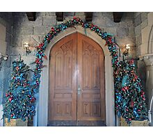Christmas at the Castle (doors) Photographic Print