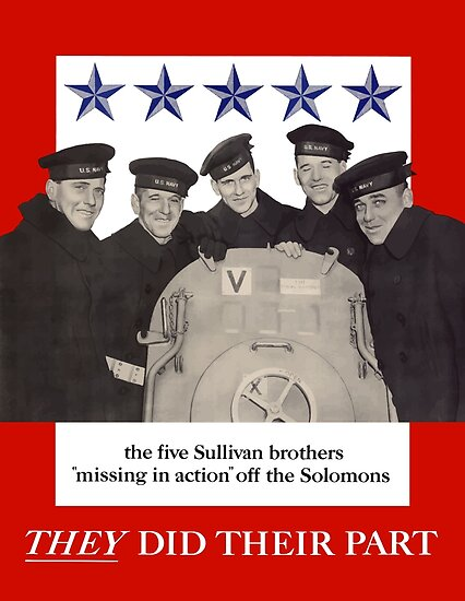 The Sullivan Brothers - They Did Their Part by warishellstore