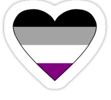 Ace of Hearts - Asexual playing card Sticker