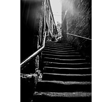 Stairs, at Side, Newcastle Upon Tyne Photographic Print