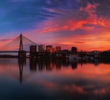 Sunrise at Blackwattle Bay - Panorama by Arfan Habib