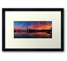 Sunrise at Blackwattle Bay - Panorama Framed Print
