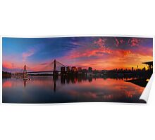 Sunrise at Blackwattle Bay - Panorama Poster