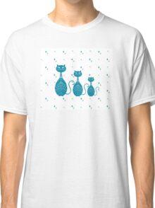 Blue Cat Illustration  Classic T-Shirt