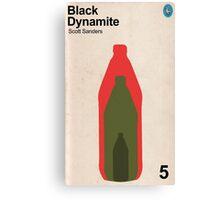 Black Dynamite Retro Book Cover Canvas Print