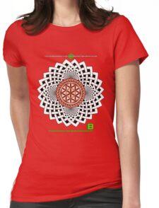 CELTIC FLOWER OF LIFE VORTEX MERCH OCT 2012 Womens Fitted T-Shirt