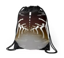 And The Road Goes On.... Drawstring Bag