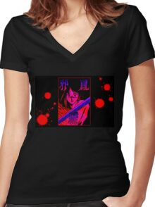 Stuck Women's Fitted V-Neck T-Shirt