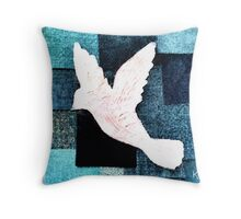 Patchwork Dove Throw Pillow