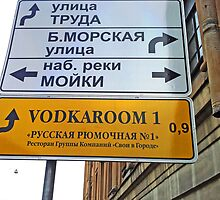 Direction Sign (Saint Petersburg) by Andrew Pounder