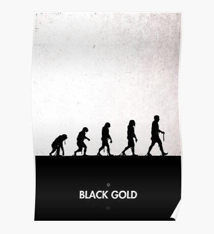 99 Steps of Progress - Black Gold Poster