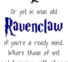 Ravenclaw (Movie Colors) by princessbedelia
