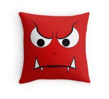 Evil Face Throw Pillow