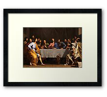 The Last Supper by Philippe de Champaigne (1648) Framed Print