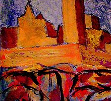 Rock of Cashel Acrylic 1 by Tipptoggy