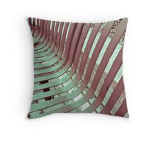 A Bench of Two Colors Throw Pillow