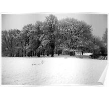 Snow on Hampstead Heath  Poster