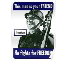 Russian -- This Man Is Your Friend Poster
