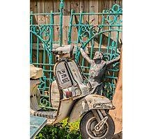 Moped Jesus Photographic Print