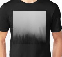 Fog over the forest Unisex T-Shirt