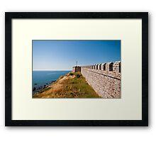 Historical Castle At Babakale, Turkey Framed Print