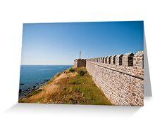 Historical Castle At Babakale, Turkey Greeting Card