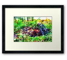 Wagon Wheel high colors Framed Print