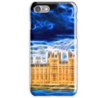Big Ben and Houses of Parliament with Thames iPhone Case/Skin