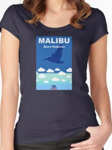 Malibu - California. Women's Fitted Scoop T-Shirt