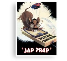 Material Conservation - Jap Trap - WW2 Canvas Print