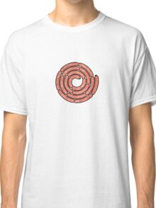 A spiral of pink sausages. Classic T-Shirt