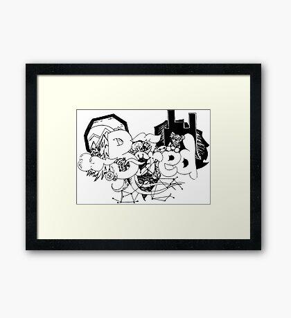 Bored doodle art  Framed Print