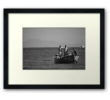 Returning Boat Framed Print