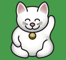A fat maneki neko waving One Piece - Short Sleeve