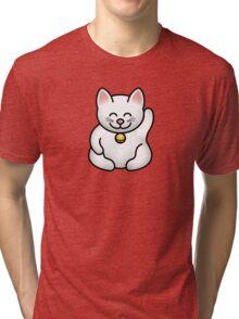 A fat maneki neko waving Tri-blend T-Shirt