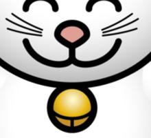 A fat maneki neko waving Sticker