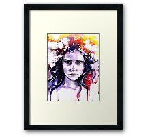 Colorful girl Framed Print