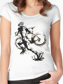 Cyclocross mud Women's Fitted Scoop T-Shirt