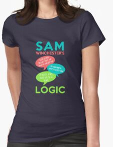 SAM WINCHESTER'S LOGIC Womens Fitted T-Shirt