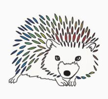 Rainbow Hedgehog Design by ouiouiouwha