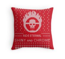 Mad Max Ugly Sweater Design Throw Pillow