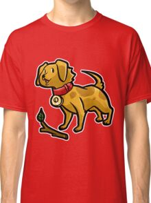 Dog Playing Fetch Classic T-Shirt