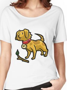 Dog Playing Fetch Women's Relaxed Fit T-Shirt