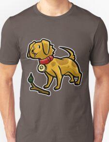 Dog Playing Fetch Unisex T-Shirt